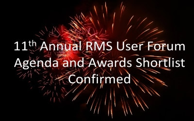 11th Annual RMS User Forum and Awards Event – Agenda and Awards Shortlist Confirmed
