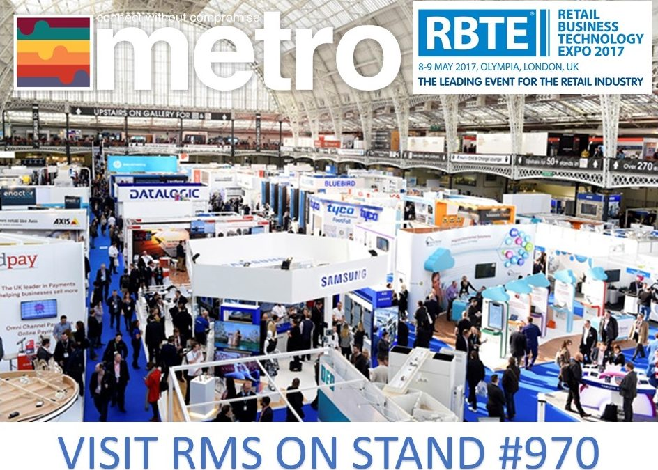 Retail Business Technology Exhibition (RBTE), 8-9 May 2017, Olympia, London