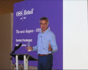 Photo of Dominic Prendergast, MD of OSS Retail presenting at Metro Forum 2019