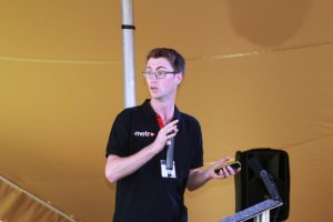 Liam Cautley from the RMS Technical Team speaking at Metro Forum 2019