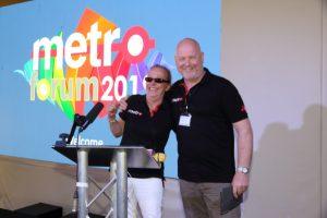 Photo of Karen Dyke and Rob Morgan, hosting Metro Forum 2019