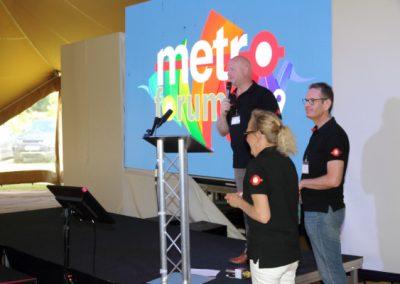Photo of Rob Morgan, Chris Ferns and Karen Dyke at Metro Forum 2019