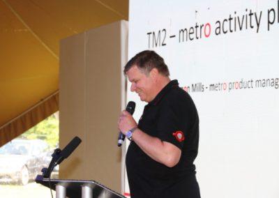 Photo of Simon Mills speaking at Metro Forum 2019