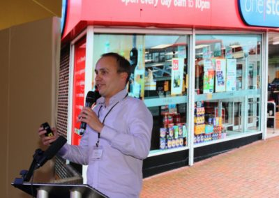Photo of Mark Denton, Head of Technology at One Stop Stores speaking at Metro Forum 2019