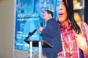 Photo of Chris Heap, Digital Transformation Lead at Microsoft presenting at Metro Forum 2019