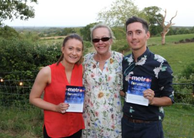 Stacey and Aron from The Watches of Switzerland Group pictured with Karen Dyke, MD of RMS