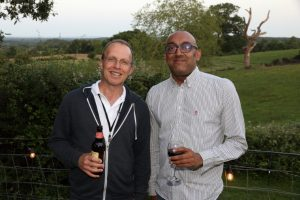 Photo of Steve Searson (RMS) and Vijen Patel (BT/EE) pictured at Metro Awards 2019
