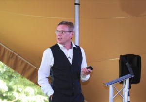 Photo of Phillip Adcock speaking at RMS' Metro Forum 2018
