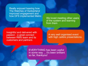 Image showing comments from attendees to Metro Forum 2019